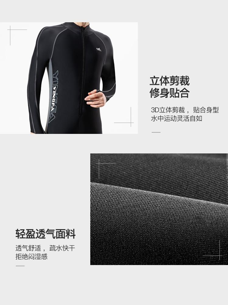 Y2139,图片1,男士连体水母衣