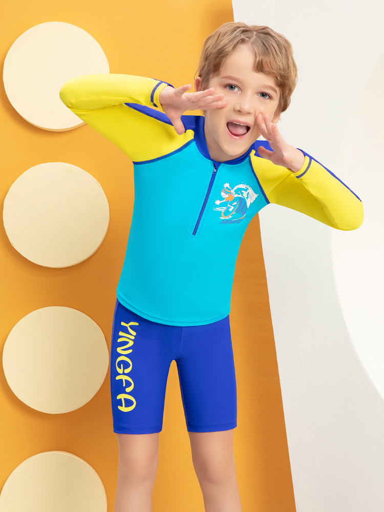 Y0533,图片1,男童分体泳衣