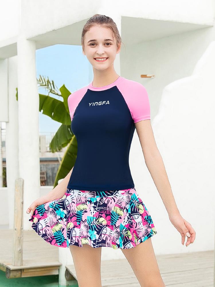 Y2112,图片3,裙式分体泳衣