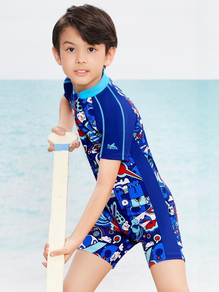 Y0507,图片1,男童连体游泳衣