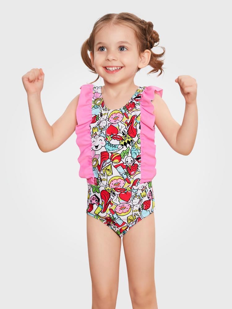 Y0518,图片0,儿童连体三角泳衣