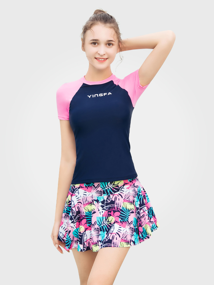 Y2112,图片0,裙式分体泳衣