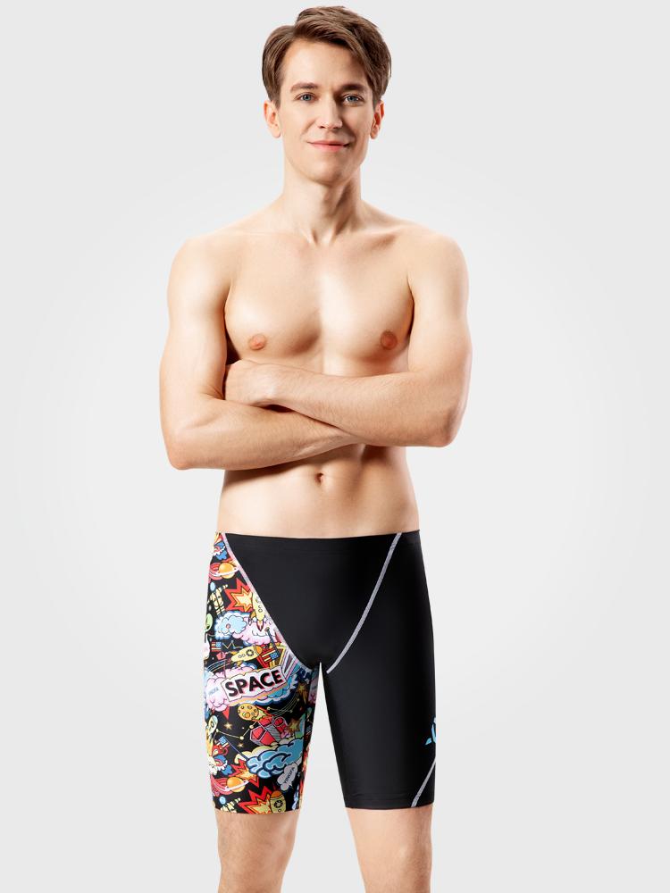 Y3927,图片0,五分平角及膝泳裤