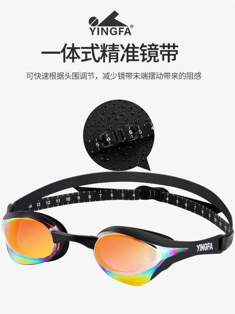 Y828AF(V),图片2,防雾多彩镀铬泳镜