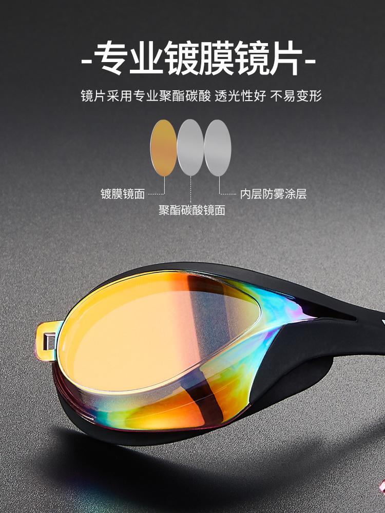 Y828AF(V),图片1,防雾多彩镀铬泳镜