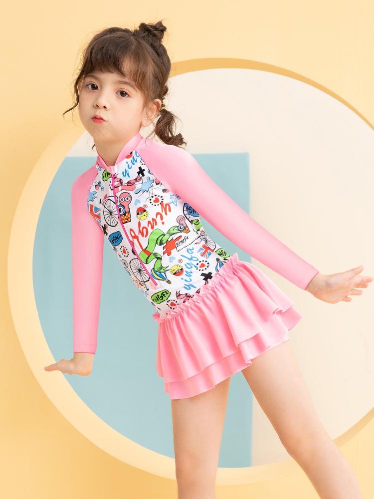 Y0529,图片2,儿童长袖防晒泳衣