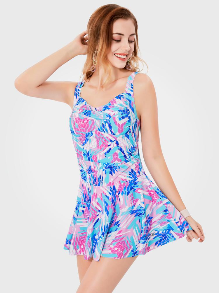 Y2029,图片1,休闲连体裙式泳衣