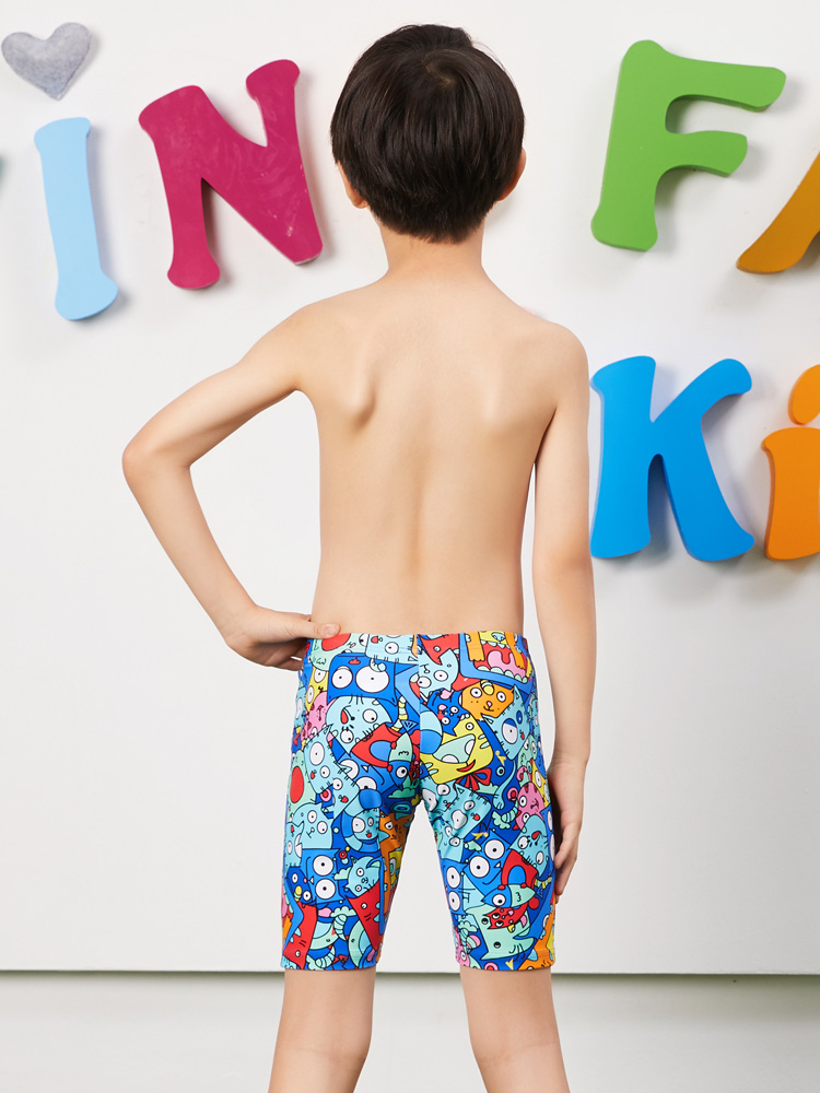 Y0237,图片3,儿童五分泳裤