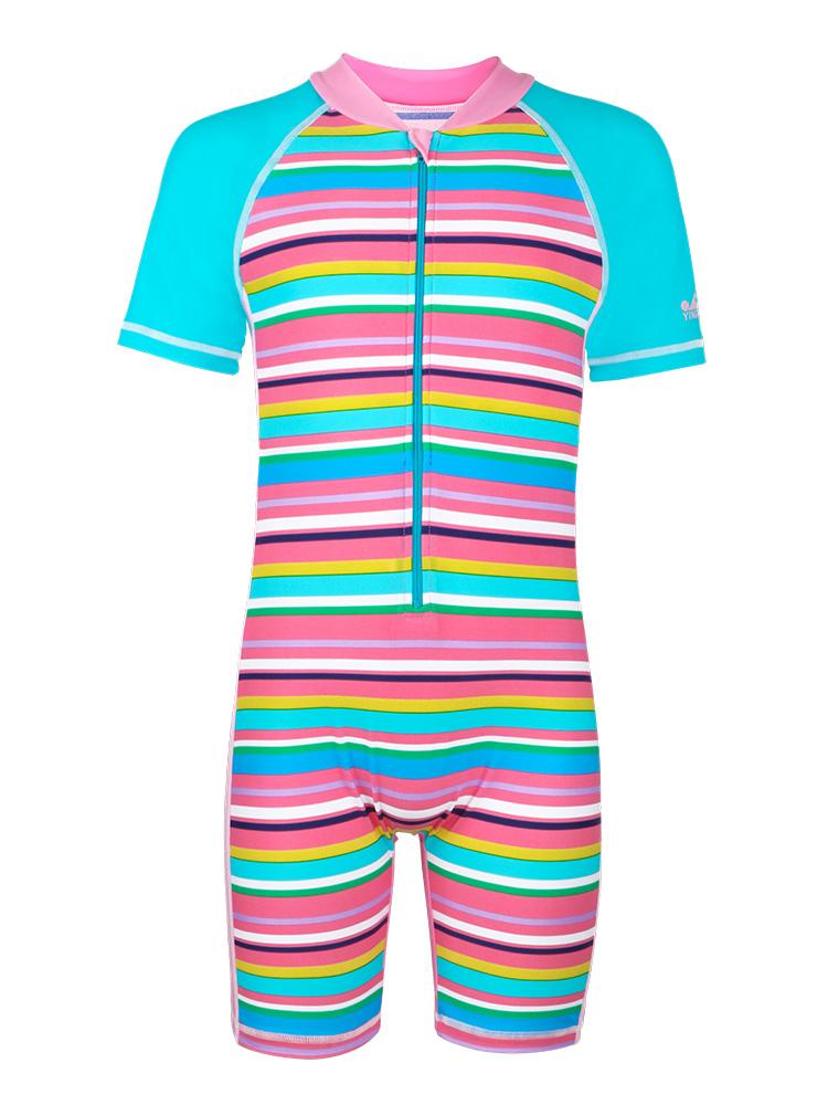 Y0390,图片4,女童连体短袖泳衣
