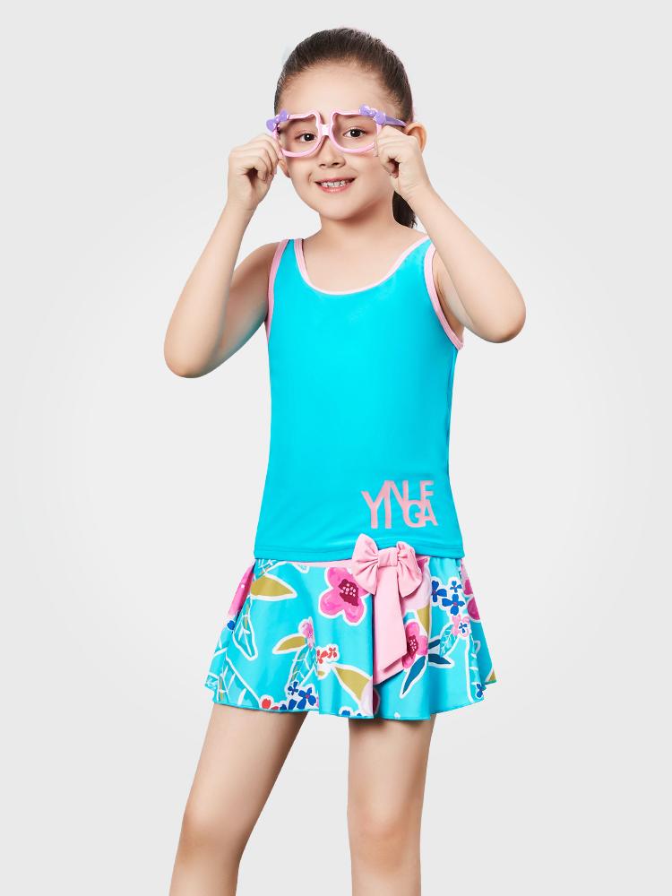 Y0370,图片0,女童裙式泳衣
