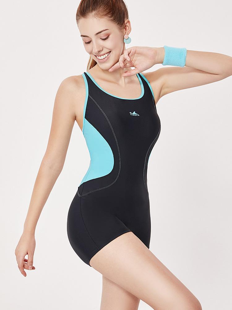 Y1928,图片1,休闲连体平角泳衣