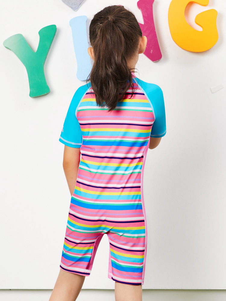 Y0390,图片3,女童连体短袖泳衣