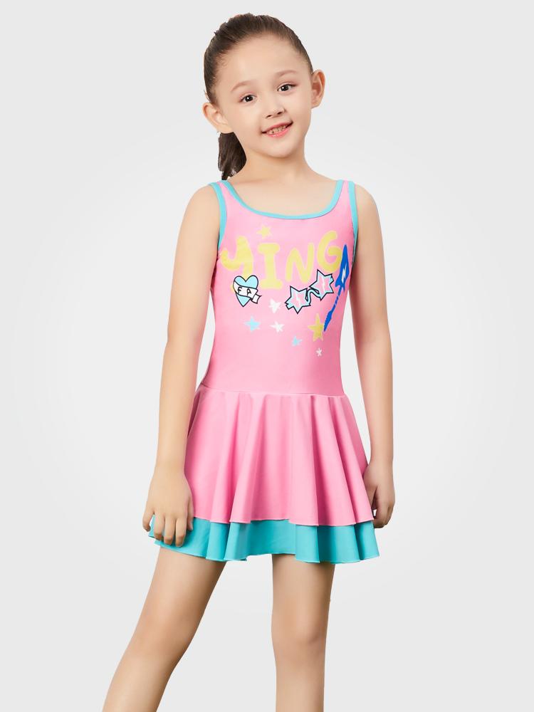 Y0397,图片0,儿童连体裙式泳衣