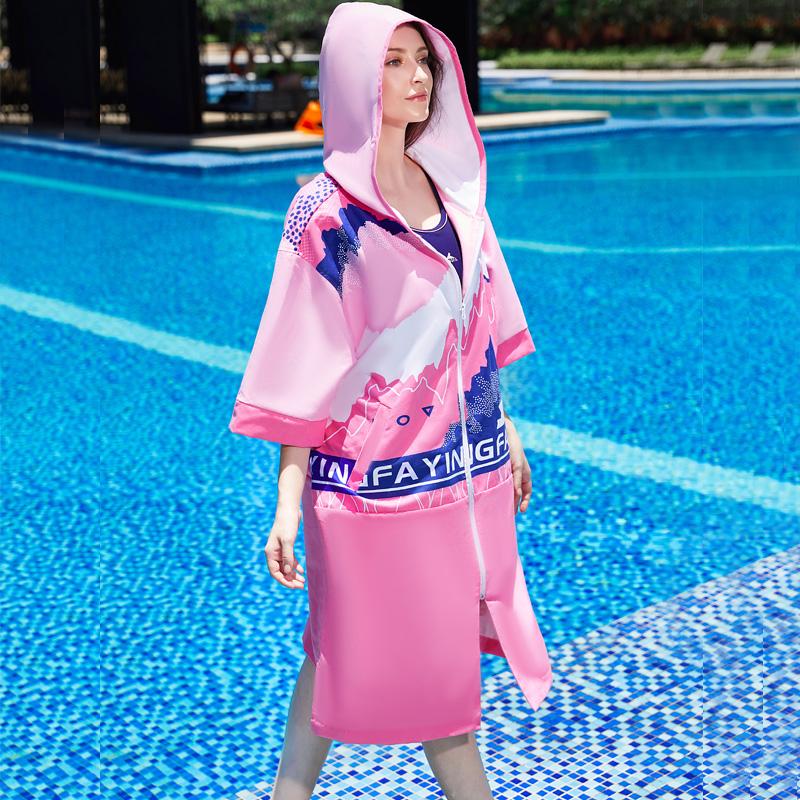 Y05,图片3,双面绒印花毛巾衣(女)