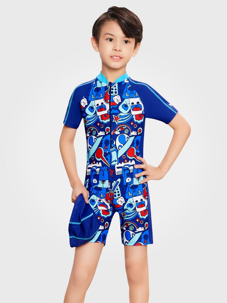 Y0507,图片0,男童连体游泳衣