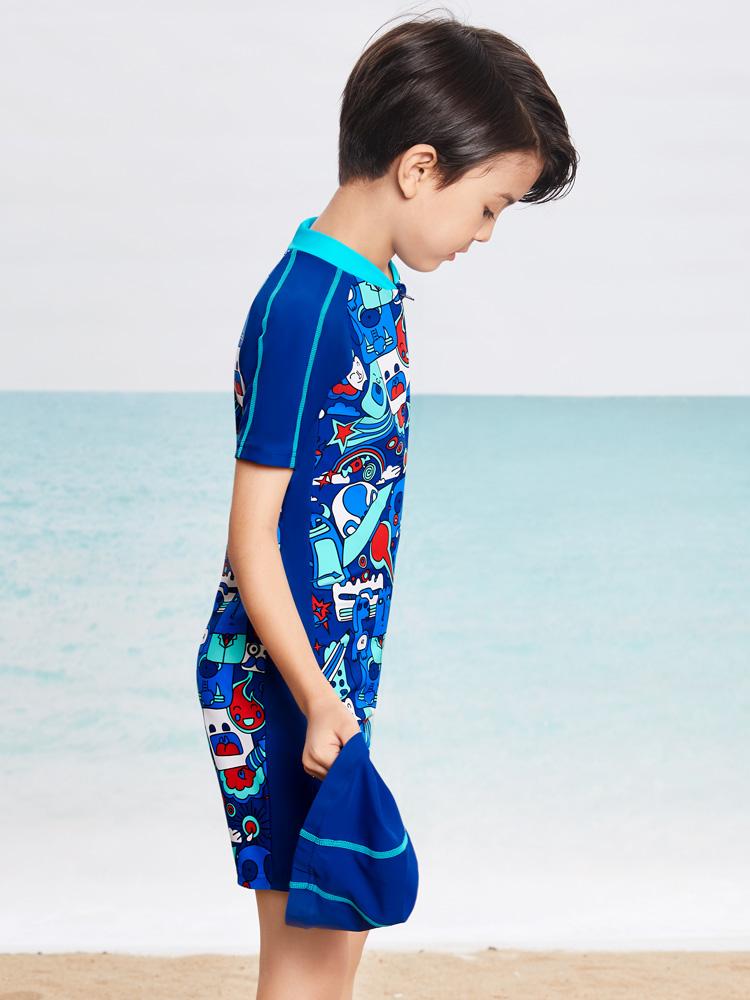Y0507,图片2,男童连体游泳衣