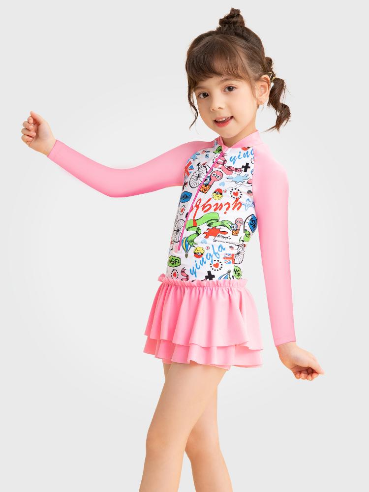 Y0529,图片0,儿童长袖防晒泳衣