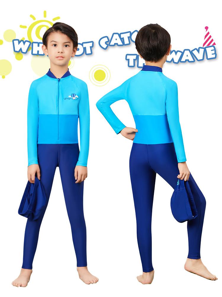 Y0379,图片2,儿童长袖防晒泳衣