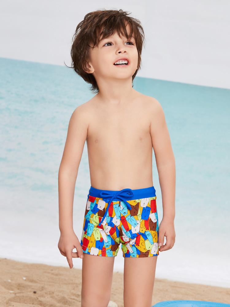 Y0250,图片1,学游泳平角短裤