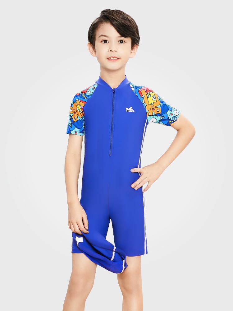 Y0509,图片0,儿童防嗮连体泳衣