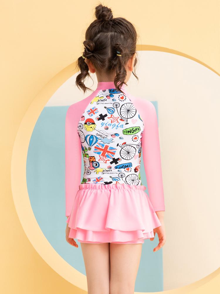 Y0529,图片4,儿童长袖防晒泳衣