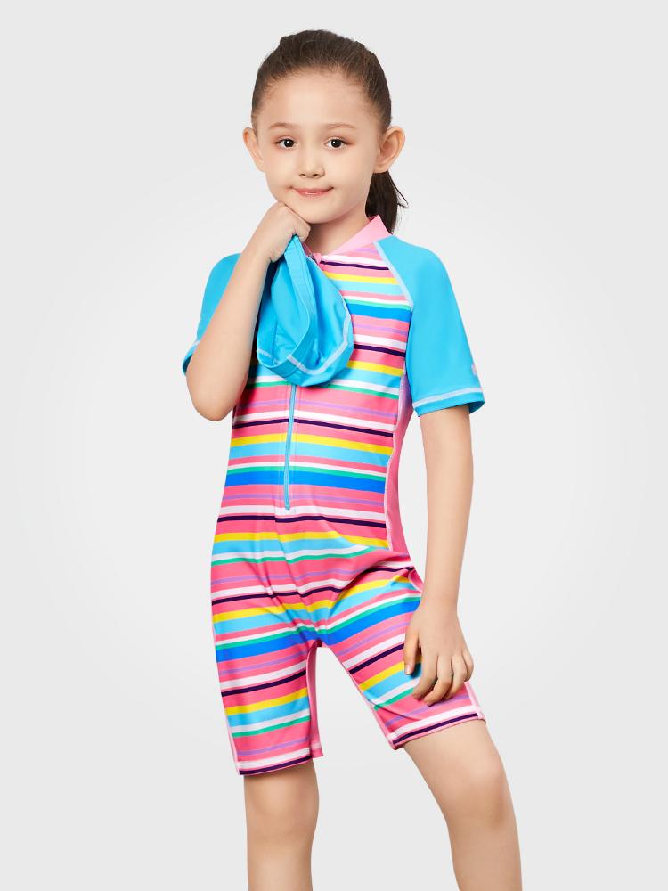 Y0390,图片0,女童连体短袖泳衣