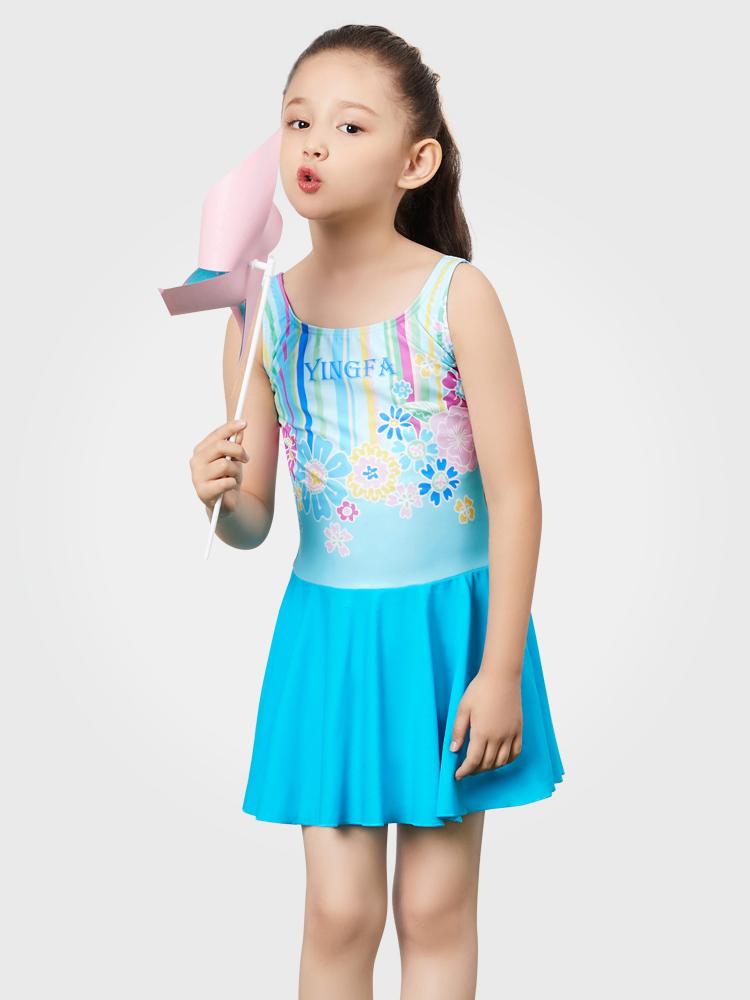 Y0388,图片0,中大童连体裙式泳装