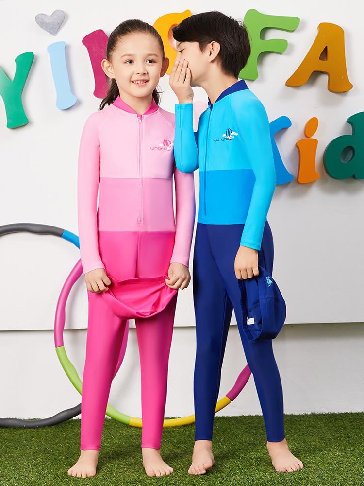 Y0379,图片3,儿童长袖防晒泳衣
