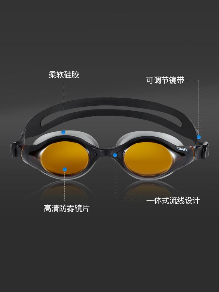 Y686AF,图片1,防雾大框高清泳镜