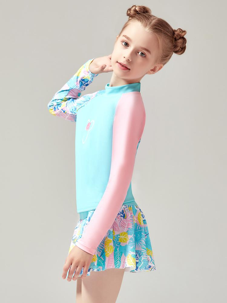 D23151,图片1,女童分体裙式泳衣