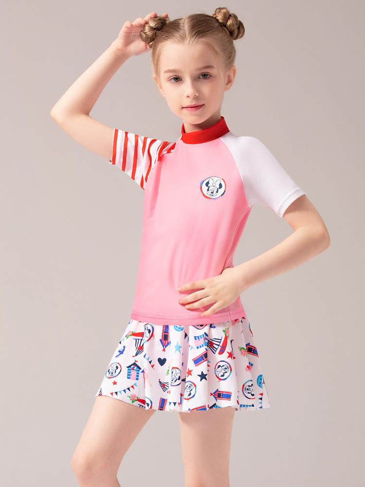 D23152,图片1,女童分体裙式泳衣