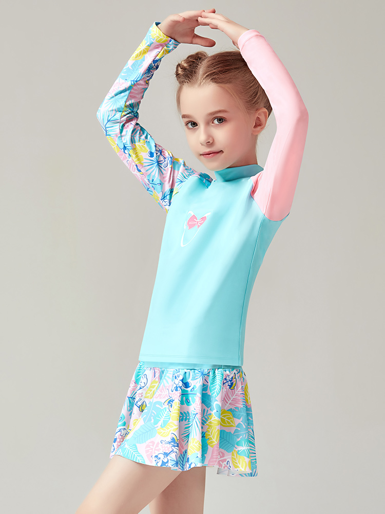 D23151,图片2,女童分体裙式泳衣