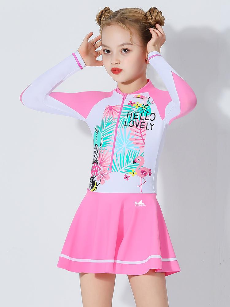 D23155,图片3,女童裙式连体泳衣
