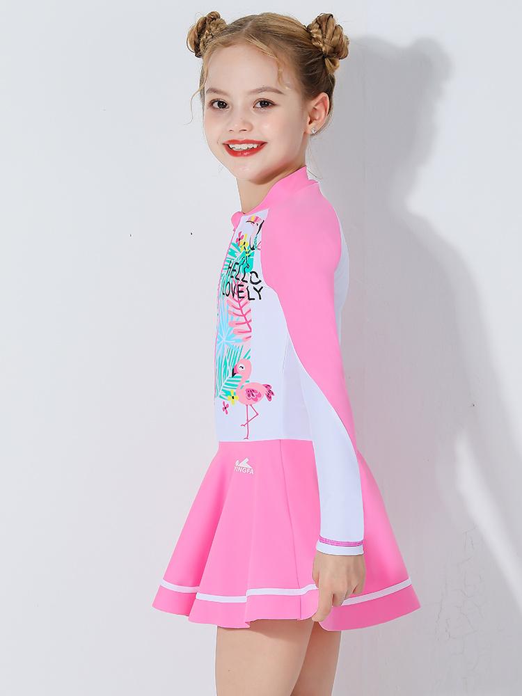D23155,图片2,女童裙式连体泳衣
